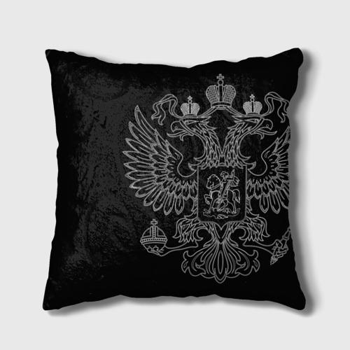 Подушка 3D  Фото 02, Охрана белый герб РФ