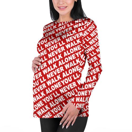 Женский лонгслив 3D для беременных  Фото 01, YNWA красный