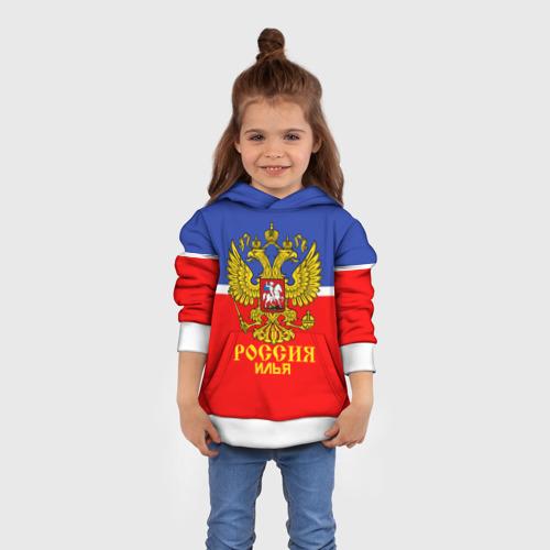 Детская толстовка 3D Хоккеист Илья