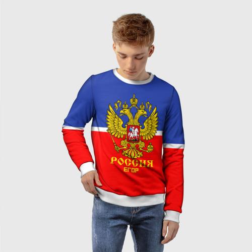 Детский свитшот 3D Хоккеист Егор Фото 01
