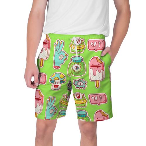 Мужские шорты 3D Страшилки монстрики
