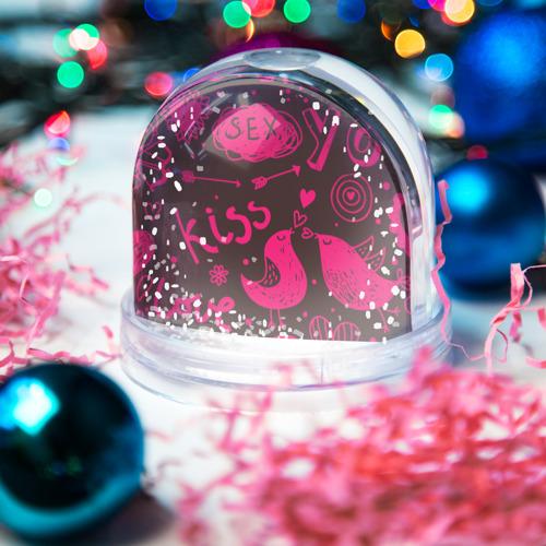 Водяной шар со снегом  Фото 03, Это праздник любви