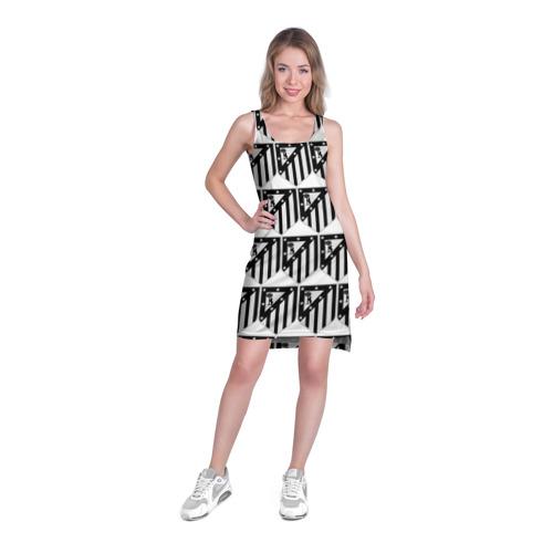 Платье-майка 3D  Фото 03, Atletico Madrid Black&White