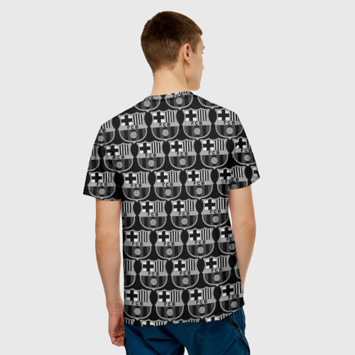 Мужская футболка 3D  Фото 02, Barcelona Black&White