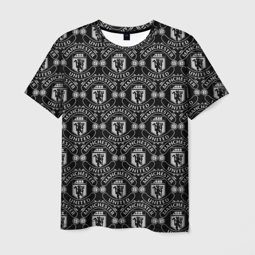 Мужская футболка 3D  Фото 03, Manchester United Black&White