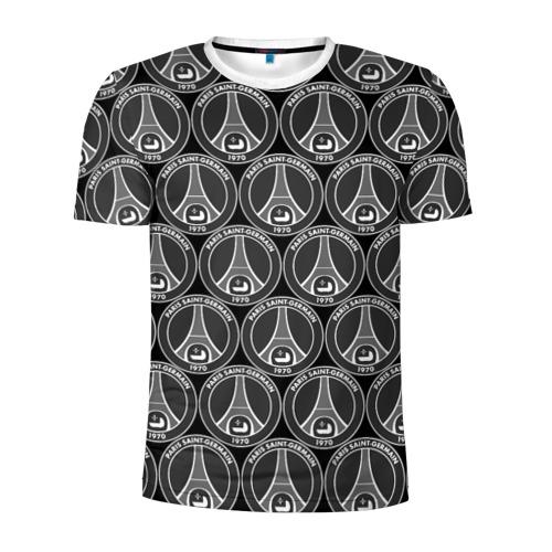 Мужская футболка 3D спортивная  Фото 01, PSG Black&White