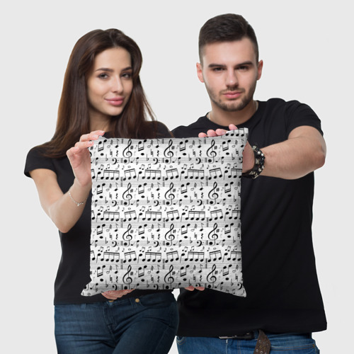 Подушка 3D  Фото 03, Нотный стан