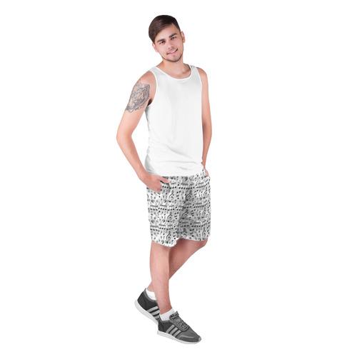 Мужские шорты 3D  Фото 03, Нотный стан