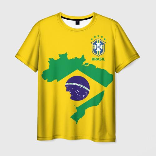 Мужская футболка 3D  Фото 01, Бразилия, форма