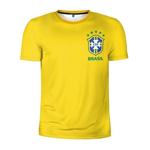 Мужская футболка 3D спортивная Бразилия, форма