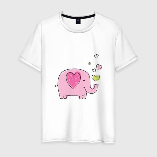 Мужская футболка хлопок Слоненок