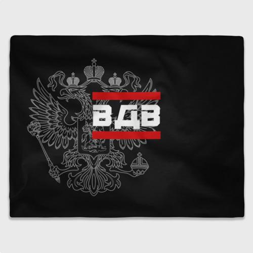 Плед 3D  Фото 03, ВДВ белый герб РФ