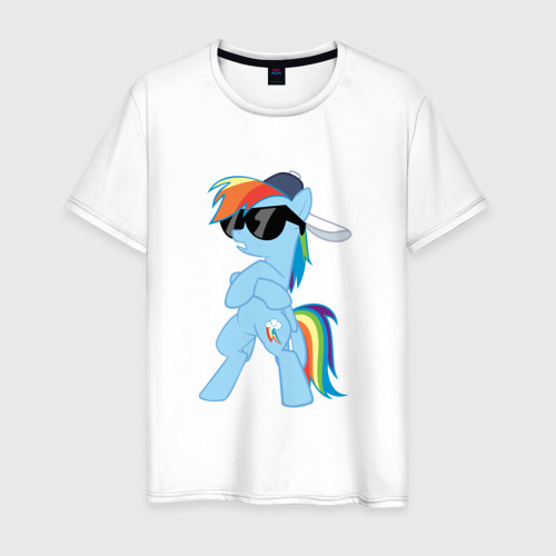 Мужская футболка хлопок Крутая пони