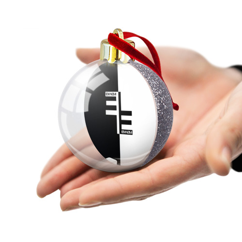 Ёлочный шар с блестками  Фото 03, Eminem