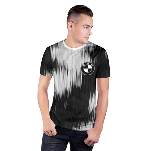 Мужская футболка 3D спортивная  Фото 03, BMW sport collection black