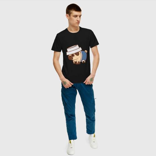 Мужская футболка хлопок мопс-кофе Фото 01