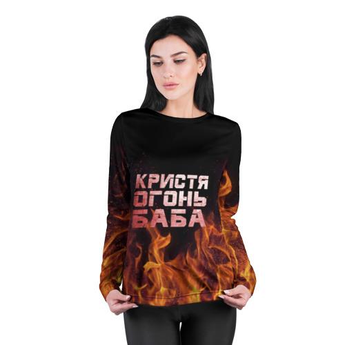 Женский лонгслив 3D для беременных  Фото 04, Кристя огонь баба
