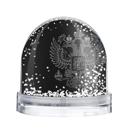Водяной шар со снегом  Фото 02, ВМФ белый герб РФ