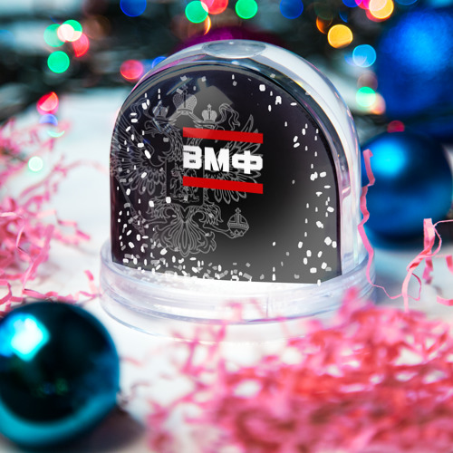 Водяной шар со снегом  Фото 03, ВМФ белый герб РФ