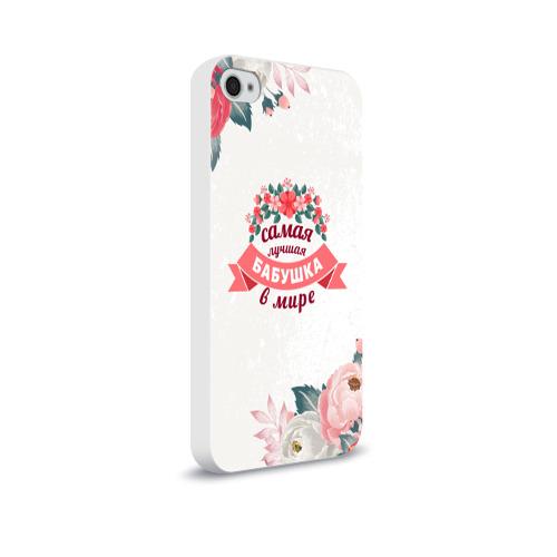 Чехол для Apple iPhone 4/4S soft-touch  Фото 02, Самая лучшая БАБУШКА в мире