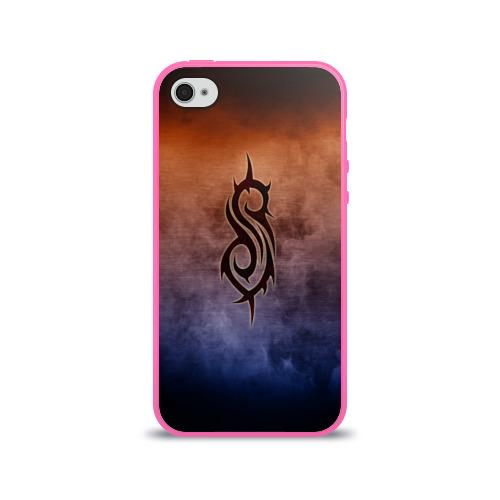Чехол для Apple iPhone 4/4S силиконовый глянцевый Slipknot Фото 01