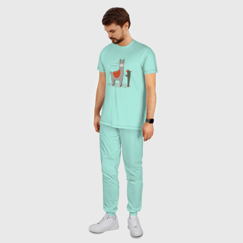 Мужская пижама хлопок alpaca-llama Фото 01