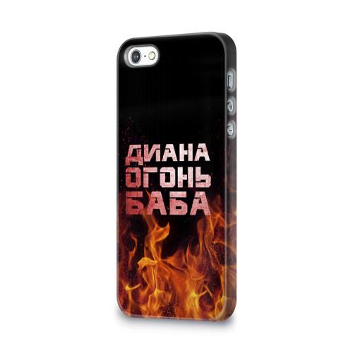 Чехол для Apple iPhone 5/5S 3D  Фото 03, Диана огонь баба