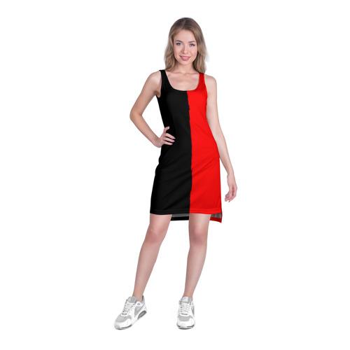 Платье-майка 3D  Фото 03, Red & Black