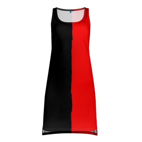 Платье-майка 3D  Фото 01, Red & Black