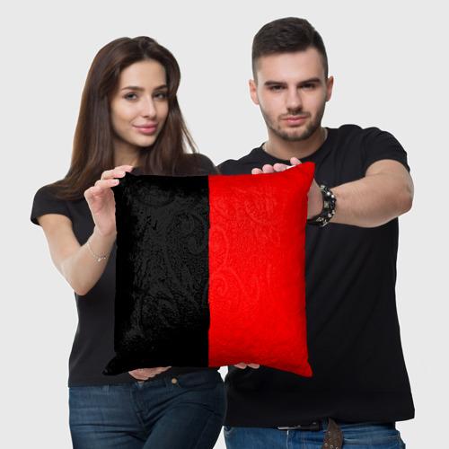 Подушка 3D  Фото 05, Red & Black