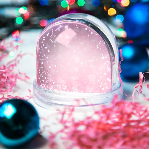 Водяной шар со снегом  Фото 03, Сердечки