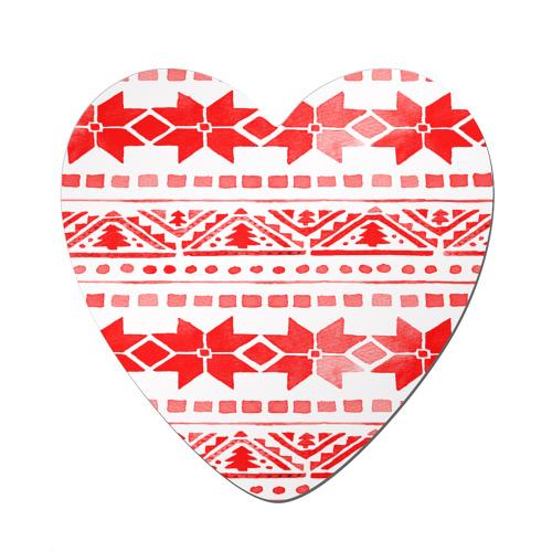 Магнит виниловый сердце  Фото 01, watercolor christmas
