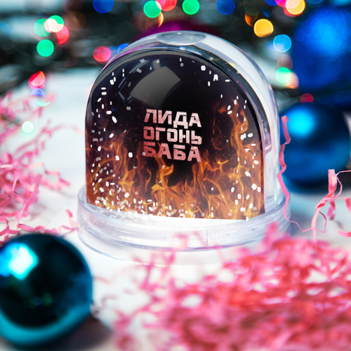 Водяной шар со снегом  Фото 03, Лида огонь баба