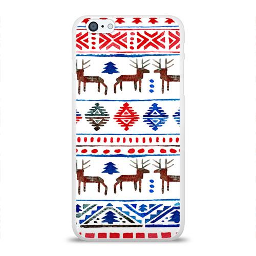 Чехол для Apple iPhone 6Plus/6SPlus силиконовый глянцевый  Фото 01, christmas winter