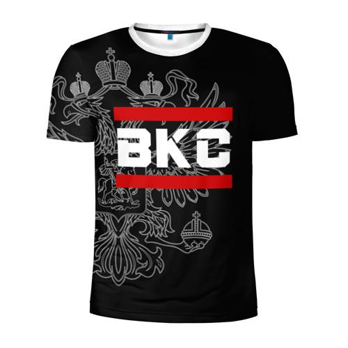 Мужская футболка 3D спортивная  Фото 01, ВКС белый герб РФ