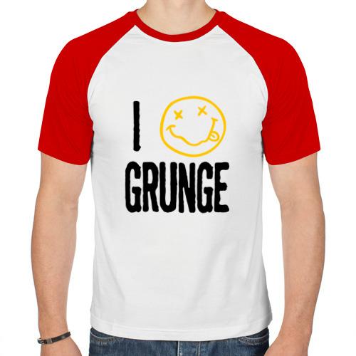 Мужская футболка реглан  Фото 01, I love grunge