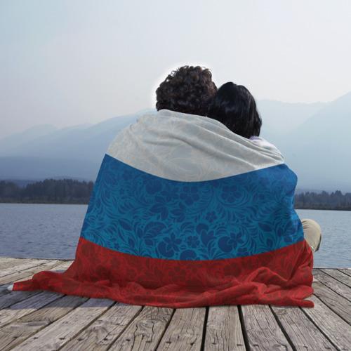Плед 3D Россия хохлома триколор Фото 01