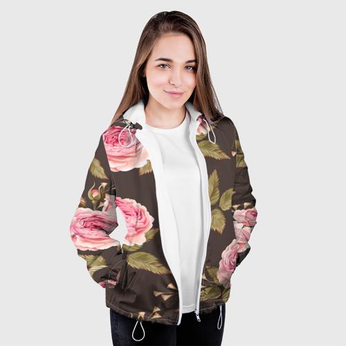 Женская куртка 3D  Фото 04, Flower rose
