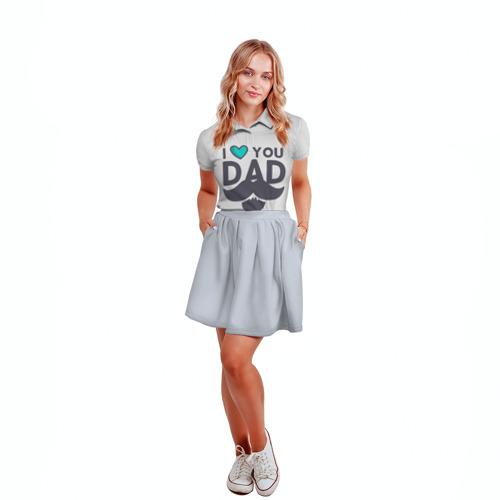Женская рубашка поло 3D  Фото 04, Любимый папа
