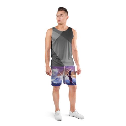 Мужские шорты 3D спортивные  Фото 04, Stars