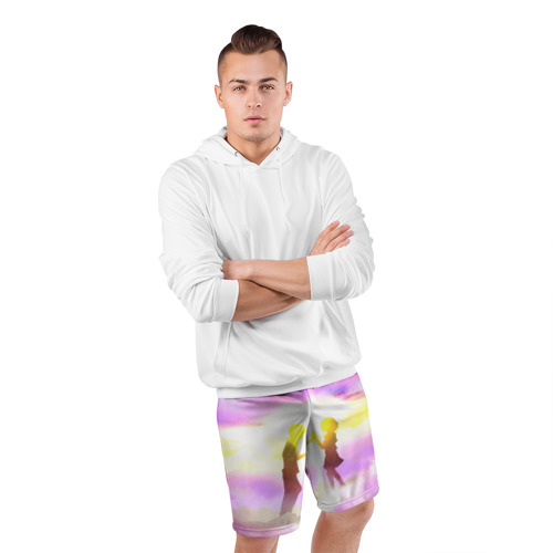 Мужские шорты 3D спортивные  Фото 05, Sky