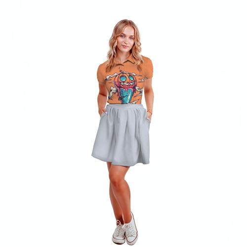 Женская рубашка поло 3D  Фото 04, Тыквенное мороженое