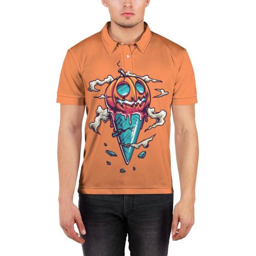 Мужская рубашка поло 3D  Фото 03, Тыквенное мороженое