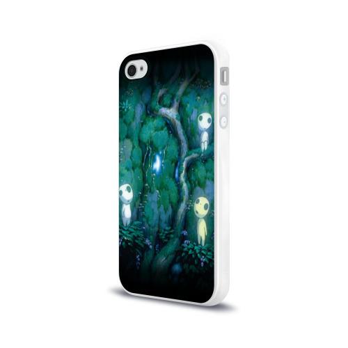 Чехол для Apple iPhone 4/4S силиконовый глянцевый  Фото 03, принцесса Мононоке_5
