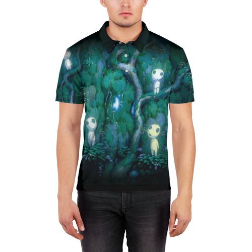 Мужская рубашка поло 3D  Фото 03, принцесса Мононоке_5
