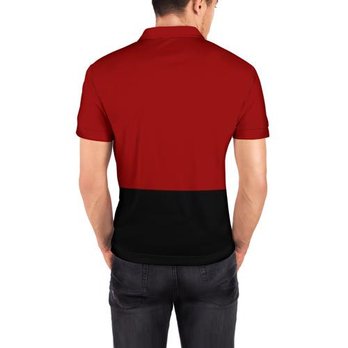 Мужская рубашка поло 3D  Фото 04, Красно-черный флаг HU
