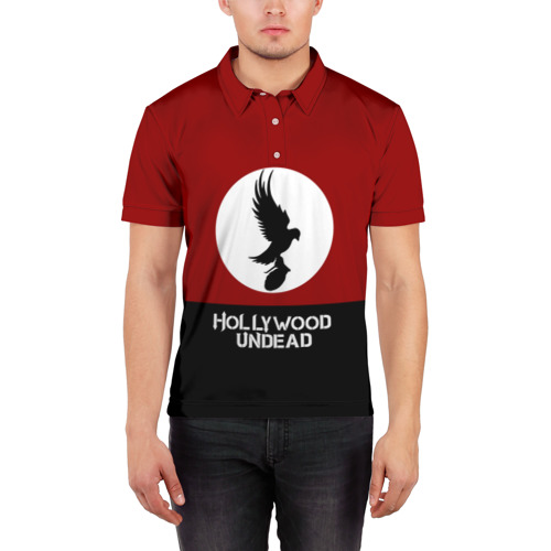 Мужская рубашка поло 3D  Фото 03, Красно-черный флаг HU