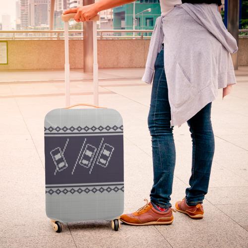 Чехол для чемодана 3D Свитер с оленем Фото 01