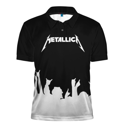 Мужская рубашка поло 3D  Фото 01, Metallica