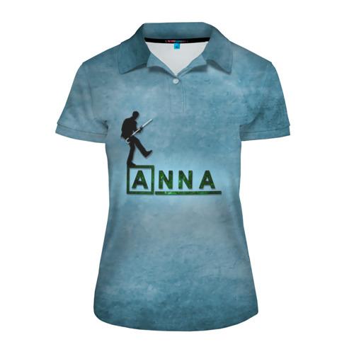 Женская рубашка поло 3D Анна в стиле Доктор Хаус